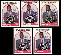 5 lot 1989-90 NBA Hoops David Robinson Rookie #138 RC Spurs HOF