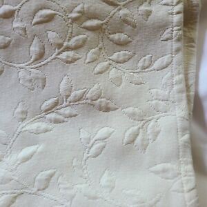 Lands End Matellase Ivory Cream Portugal Queen Bed Skirt NWOT
