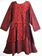 Lagen Look 80%Wolle 20%viskos. Herbst/Winter Kleid 6 Spalten Einheitsgröße