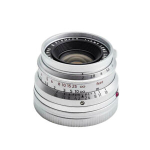 Light lens lab Lens 35mm F2 Silver Chrome for Leica Summicron M Eight Element