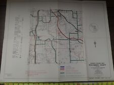 Vintage MDOT Michigan Department of Transportation ROSCOMMON COUNTY Bicycle Map
