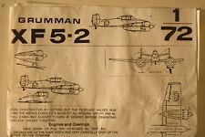 USA Grumman XF5F-2 Skyrocket, 1/72 MHW Vacuform kit, Exp. Model Airplane kit
