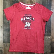 New Wt Disney Parks Womens Xxl Red Cotton T-shirt State Of Illinois 2X