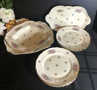 Rosenthal Continental Minvet Cream Dishes Serving pieces / Salad plates - 10 pcs