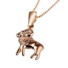 Gold Aries pendant + 14k chain , Astrology Horoscope ! Gift Jewelry & Love