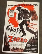 "Original 1959 ""Ghost of Zorro"" one sheet Movie Poster Clayton Moore western"