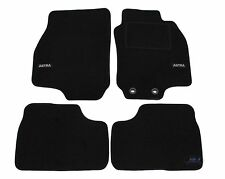 LUKOP003 Logo TAILORED Black floor Car Mats for VAUXHALL ASTRA G COUPE mk4