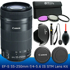 Canon EF-S 55-250mm F4-5.6 IS STM Lens Accessory Kit for Canon SLR Cameras – NEW
