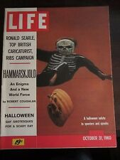 Life Magazine Halloween Salute Scary Day October 1960 Newsstand MINT