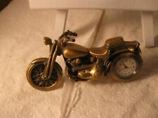 motorcycle clock brass color with kickstand Centric quartz