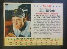 1963 Post #142 BILL VIRDON Pittsburgh Pirates (EX+) NO CREASES! L@@K *FREE SHIP*