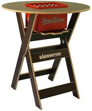Stehtisch Bierserver Partytisch mit Bierkasten-Fach klappbar Biertisch braun