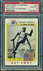 1983 Topps Olympians Ray Ewry USA Greatest PSA 10 Gem Mint Card #22