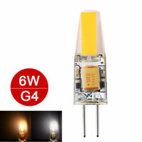 Dimmable Mini G4 COB LED Light Bulb 6W Lamp AC/DC 12V Warm /Cold White Bulb