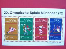 Block  8 ** ,  BRD 1972, Nr. 734-37, Olymp. Spiele