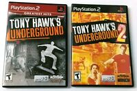 Tony Hawk's Underground 1 & 2 Discs Only (No Manual) - Both Tested & Work