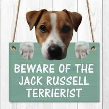 Jack Russell Terrorist Sign Funny Sign Wooden effect Door Sign Cute Dog Gift