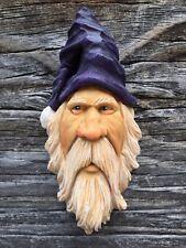 Santa Wood Carving Wizard Big Ooak Purple Hat Elf Ooak Scott Longpre Originals