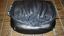 New Brighton Leather Velvet Rose Pouch NWT Pewter