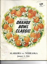 1966 Orange Bowl Program Alabama-Nebraska Tide Rolls Over Huskers!!