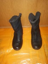 ecco Ladies Boots Black Ankle Size 5 ,In Excellent Condition