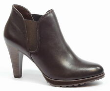 Elasticated 100% Leather Block Heel Shoes for Women
