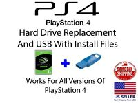 "Sony PlayStation 4 Replacement Internal 1TB 2.5"" Hard Drive with USB Update"