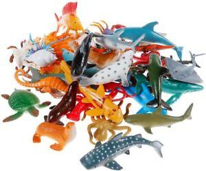 24pcs Plastic Ocean Animals Figure Sea Creatures Model Kid Toy Dolphin Turtle AU