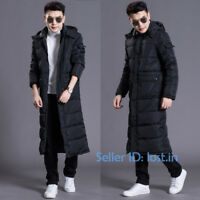 Mens Womens Winter Warm Cotton Down Jackets Hooded Coat Quilted Outerwear Parka