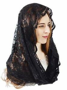 Chapel Veil Floral Latin Mass Head Covering Lace Scarf Mantilla Veils for Church