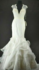 Winnie Couture Size 8 Style# 3204 Corseted Wedding Dress W/ Train White