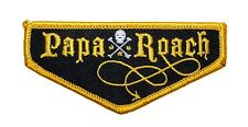 """Papa Roach"" Band Name Badge Rock Metal Music Merchandise Iron On Applique Patch"