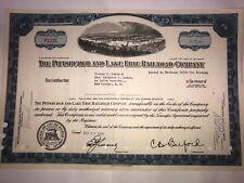Pittsburgh & Lake Erie Railroad Company original stock certificate