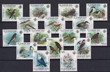Zil Elwagne Sesel Seychelles 1983 Set Stamps MNH SG 53 - 68 Birds (SEE SCANS)