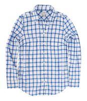 J.Crew Factory Womens L - NWT - Blue Windowpane Plaid Light-Wt. Flannel Shirt