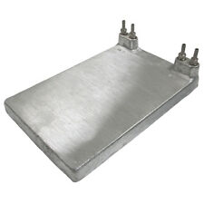 """Two Product Beer Jockey Box Cold Plate 8""""x12"""" with 1/4"""" fittings and washers"""