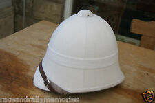 BRITISH ARMY BOER WAR STYLE WHITE DR WHO EXPLORER COLONIAL SOLA PITH HAT HELMET