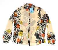 Atmosphere Brown Floral Womens Blouse Size 16 (Regular)