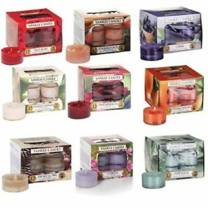 Yankee Candle Pack of 12 Scented Tea Lights. Many Scents to Chose From