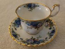VINTAGE ROYAL ALBERT MOONLIGHT ROSE BONE CHINA ENGLAND TEA CUP AND SAUCER
