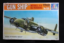 XY036 ITALERI 1/72 maquette avion 129 Gun Ship Mitchell B25 H/J Versions 1983