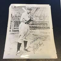 Bill Terry Signed 1920's Original 8x10 Type 1 Photo JSA COA New York Giants