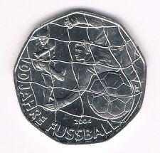 5 Euro Gedenkmünze Österreich 2004 - 100 Jahre Fußball Silber