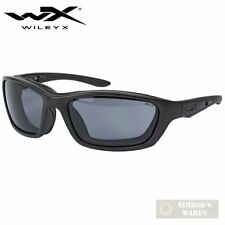 Wiley X BRICK SUNGLASSES Blk/Gry w/ Facial Cavity Seal PPE 854 FAST SHIP