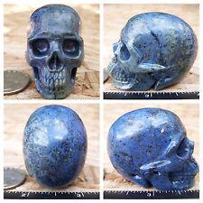 "2.0"" Dumortierite Skull 101.0g Crystal Healing Large Realistic 3.6oz Christmas"