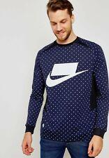 Nike Shoe Co. Nsw Navy Blue Polka Dot Design Fashion Men Long Sleeve Shirt 2Xl