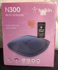 New in Box Belkin N300 Wi-Fi N Router 300 Mbps 4-Port 10/100 2.4 GHz Wireless