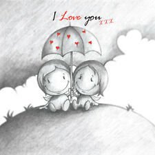 'I Love You' Cupids Birthday/Anniversary Card for him/her shelter storm together