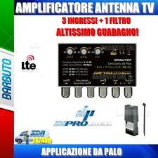 AMPLIFICATORE DA PALO 3 IN CON TRAPPOLA 2 CELLE INCORPORATA III+UHF+UHF 30 dB RE