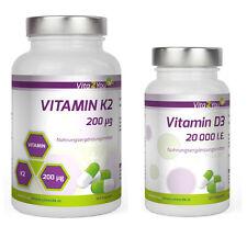 Vita2You Vitamin K2 - 200µg - 180 Kapseln + Vitamin D3 20.000 IE - 120 Kapseln